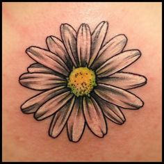 Awesome Daisy Tattoo Design