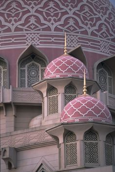 Pink Dome Mosque, Putrajaya Malaysia. ☮k☮ ♥ #bluedivagal, bluedivadesigns.wordpress.com