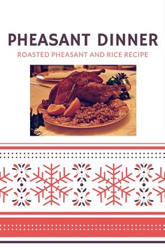 Looking for the perfect holiday recipe to make for your guests this holiday season? This pheasant and rice recipe is sure to please. Easy Pheasant Recipes, How To Cook Pheasant, Game Recipes, Holiday Recipes, Cooking Tips, Entrees, Food To Make, Rice