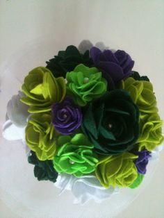 green felt bouquet