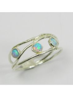 Opal silver beautiful ring!