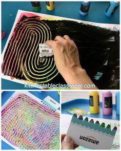 DIy Recycled Paint Scraper for Kids - The Kitchen Table Classroom - A V. - DIy Recycled Paint Scraper for Kids – The Kitchen Table Classroom These paint scrapers for kids are recycled gift cards that make for lots of process art fun - Diy Art Projects, Projects For Kids, Diy For Kids, Art Project For Kids, Class Art Projects, Art Ideas For Teens, Art Education Projects, Summer Art Projects, Art Education Lessons