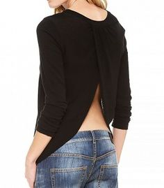 Long Sleeve Open Back Top