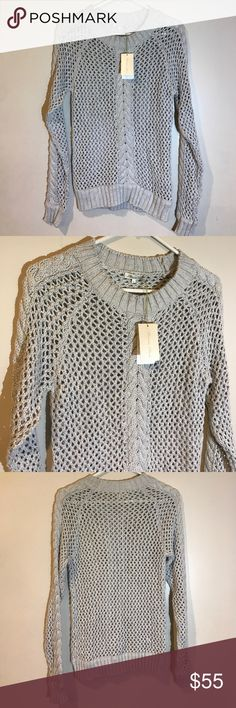 e130fac0b0f20f Minnie Rose Sweater New with tags. 100% cotton. Gray. Size Medium.