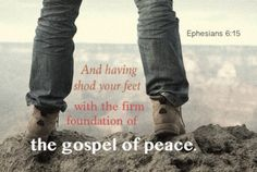 Having Shod your Feet with the Firm Foundation of the Gospel of Peace (Eph. 6:15). Read more via, www.agodman.com [photo credit: @AngChee Lee ]