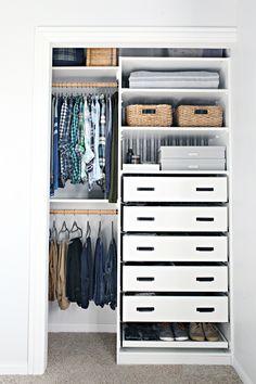 IHeart Organizing: An Organized Teen Boy Closet