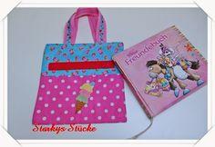 Tasche fürs Freundebuch mit toller Freebie- Stickdatei von Lollipops for breakfast