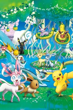 A Pokemon Paradise for All Pokemon to Have Fun And hangout