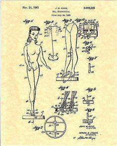 Barbie patent, 1961