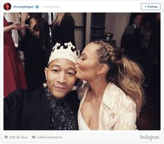 Chrissy Teigen and John Legend and their baby shower.