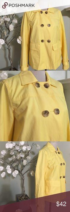 ST. JOHN'S BAY YELLOW JACKET Gorgeous new jacket , made of cotton, fully Lined St. John's Bay Jackets & Coats Blazers
