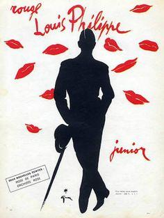 Louis Philippe Cosmetics 1955 René Gruau