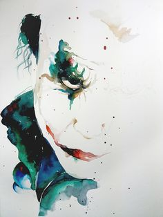Joker - Watercolor Aquarela