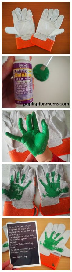 Cute Father's Day Gloves