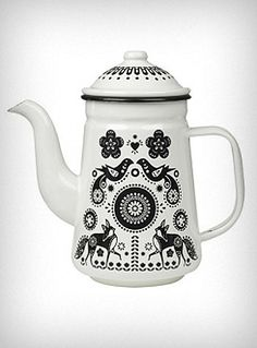 I suddenly feel the need to pour things... [Folklore Enamel Tea/Coffee Pot | PLASTICLAND]