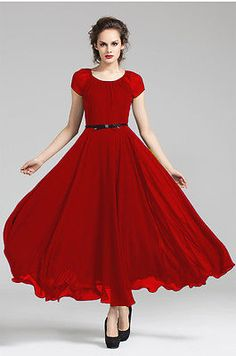 Evening dress ladies red
