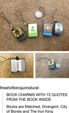 OMG THIS IS THE COOLEST THING I WANT THE DIVERGENT ONE AND THE MORTAL INSTRUMENTS ONE AHHH