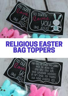 Christian easter treat bag toppers printable he is risen jesus no bunny loves you like jesus printable easter fun these fit great negle Choice Image