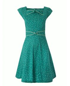 Twisted Square Dress In Green Irregualar Squares