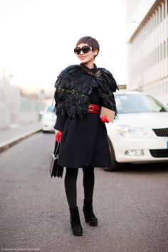 """When asked how to wear feathers, Anna once famously responded, """"Wear it""""."""