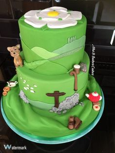Yorkshire Day Cake 2016, Landscape, Countryside, Yorkshire Terrier, Yorkshire Pudding, Gravy, Walking Boots, Walking Stick, Flat Cap, Biscuits, Tea Pot, Yorkshire Rose, Stone Walling, Sheep, Cows, Cake. Entirely edible, entirely handcrafted from sugarpaste and fondant. https://mrs-bs.co.uk/ https://www.facebook.com/mrsbcakeologist/