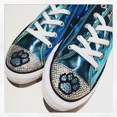 Paw Print Blinged Converse shoes now available @TrickedKicks! Perfect Mother's Day gift!