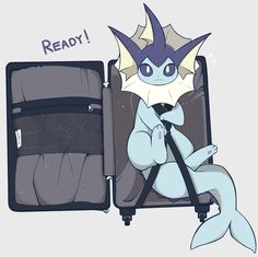 Just gotta pack only the most important things. Pokemon Eevee Evolutions, O Pokemon, Pokemon Comics, Pokemon Memes, Pokemon Funny, Pokemon Fan Art, Pokemon Stuff, Evolution Pokemon, Eevee Cute