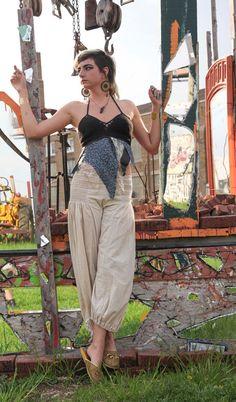 mixed media nymph  halter top by HorizonsEd3e on Etsy, $55.00 #handmade #crochet #festival clothing