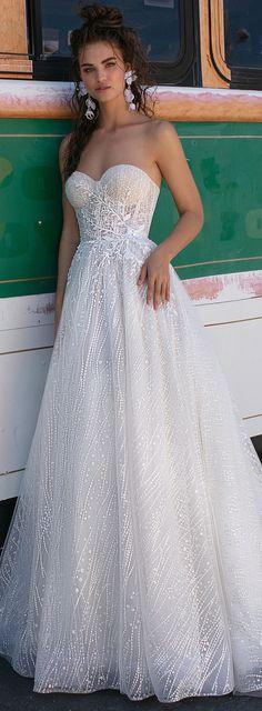 Ball gown wedding dress by BERTA | Strapless princess sparkly bridal gown with corset sweetheart neckline and full skirt | Wedding Gown | #weddingdress #weddingdresses #bridalgown #bridal #bridalgowns #weddinggown #bridetobe #weddings #bride #weddinginspiration #dreamdress #fashionista #weddingideas #bridalcollection #bridaldress #fashion #bellethemagazine #ido #dress