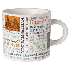 Thou Spleeny Swag-Bellied Miscreant: Create Your Own Shakespearean Insults Mug at Signals | UH1752