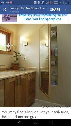 WASHOK inbouw kastje met spiegel naast badkamer