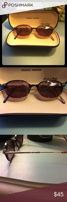Giorgio Armani Sunglasses Giorgio Armani Sunglasses-Cute Tortoise and Gold Frames- Authentic- Purchased From a Eye Care Center But Does Not Have Prescription Lenses- Outside of Case Is Not Perfect But Glasses Are! No Scratches🚫 Giorgio Armani Accessories Sunglasses