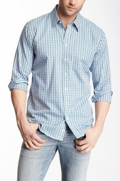Toscano Gingham Button Front Shirt