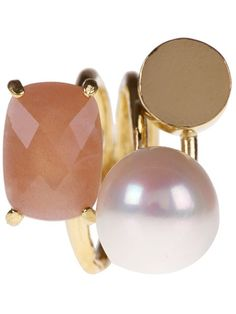 Wouters & Hendrix Sunstone And Pearl Ring | cynthia reccord