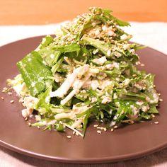 簡単!ごまたっぷり水菜の白和え | 料理動画(レシピ動画)のkurashiru [クラシル]