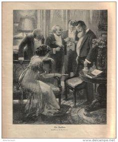 Die Anekdote (U.Gulliaume)  /Druck ,entnommen  aus Zeitschrift /1910