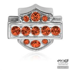 Harley-Davidson® MOD® Orange Crystal Ride Bead HDD0009