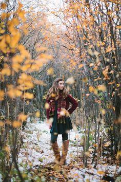 Fall teen portrait session.