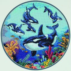 Circle of Whales - Dimensions counted cross stitch kit