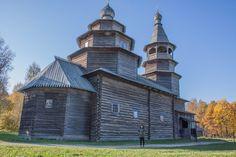 "The Museum of Folk Wooden Architecture ""Vitoslavlitsy"" near Veliky Novgorod, Russia"