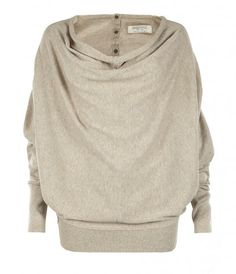 Button back cozy sweater. Love.