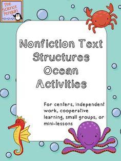Nonfiction Text Structures Ocean Activities Freebie