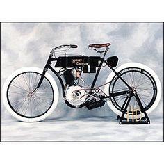The first Harley Davidson 1903.