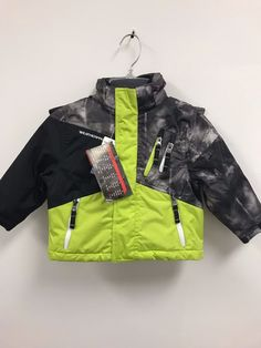 fc3f3818b10e Outerwear 147324  Nwt Weatherproof Toddler Boy S Hooded Full Zip Winter  Jacket Limeblack - Size 2T -  BUY IT NOW ONLY   14.99 on  eBay  outerwear  ...
