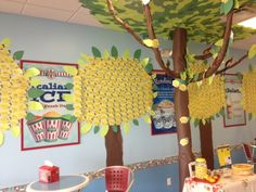 The Lemon Tree at our Carroll Ave store!  It's growing with each dollar that's donated to Alex's Lemonade Stand!