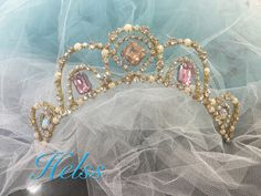 Tiara for ballet , wedding, costume. Handcrafted by Helen Shawsmith