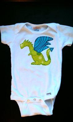 Dragon Onesie Onsie or shirt Baby Boy. $18.95, via Etsy.