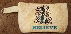 Ready To Ship Quilted Clutch Makeup Bag by Allamericanacrafts