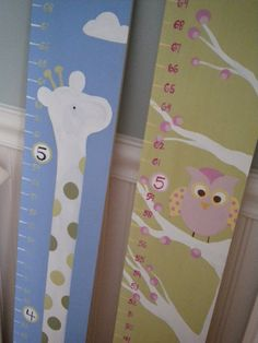 Wooden Growth Chart Personalized and by GypsyLaneDesigns on Etsy, $68.99