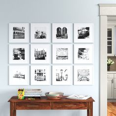 Travel Gallery Wall, Gallery Wall Frames, Collage Picture Frames, Picture Frame Sets, Frames On Wall, Stairway Gallery Wall, Picture On Wood, Picture Wall, Layout
